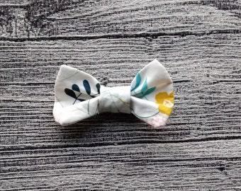 Loop Clip Barrette - floral