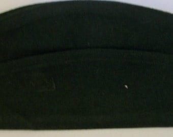 Vintage Green Garrison Cap   AG-344  Type I Class-4  60 % Poly/ 40 Wool Cap  - Size 7  Made By Propper International Inc