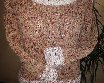 beige sweater handmade-handmade