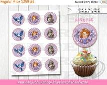 50% OFF SALE Princess Sofia Cupcake Toppers, Sofia the First Cake Toppers, Princess Sofia party, Pocahontas, printable Printable DIY, Instan