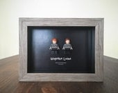 Personalized - Harry Potter Framed Lego Minifigures - Ron Weasley & Hermione Granger