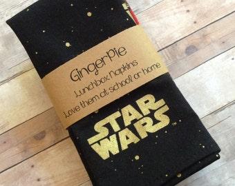 Star Wars Napkins, Lunchbox Napkins, Napkins for Kids, Set of 6