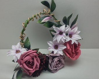 Artificial Wreath Flower Arrangement with Roses