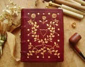 The Red King - A Regal Handmade Journal Bound in Red Calf and Tooled with 23.5 karate Gold