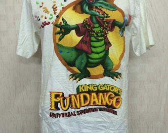 Deadstock Vintage Universal Studios Florida KINGS GATOR'S Fundango Tshirt