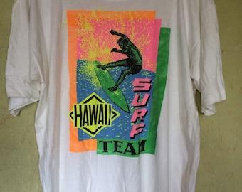 Vintage 80s HAWAII SURF Team Super - T  tshirt