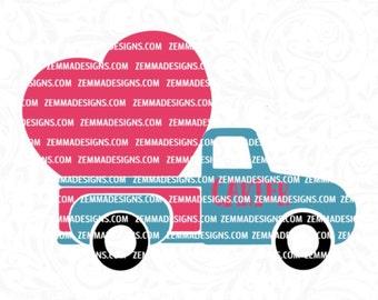 truck svg - truck heart svg - Valentines svg - Valentine truck svg - boy svg files - old truck svg - boy valentine svg - Zemma Designs