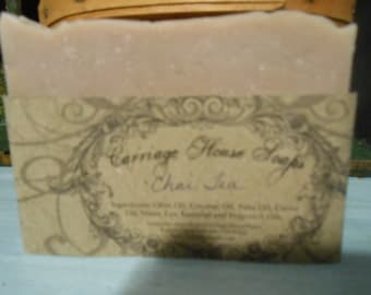 Chai Tea all natural homemade moisturizing full lather  bar soap strong scent
