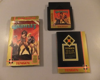 Gauntlet Original NES Nintendo Vintage Video Game Box and Cart