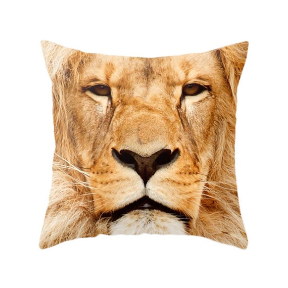 Zoo Animal Pillows : Lion Pillow Zoo Portrait Animal Photography Safari Wild
