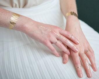 Fern & Gemstone Gold Foil Temporary Tattoo Kit
