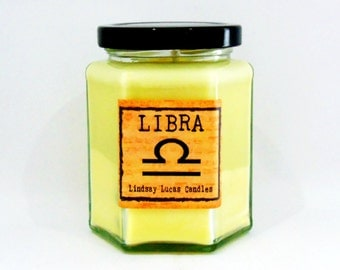 Libra Candle, Star Sign Candle, Horoscope Candle, Libra Gift, Scented Candle, Zodiac Candle, Zodiac Gift, Gift For Libra, Gift For Friend