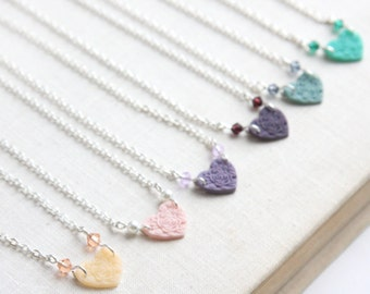 Boho Jewelry Heart Necklace Flower Girl Jewelry Sweet Sixteen Necklace Teenage birthday gift Sterling Silver Chain Jr Bridesmaid