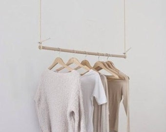 handmade 48 inches wooden rod hanger - MADE TO ORDER