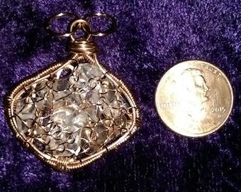 Quartz and Copper Filled Pendant