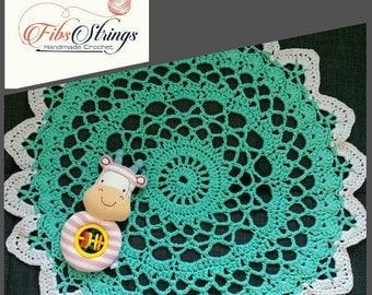 Mini Handmade Crochet Doily Inspired Rug   70cm Rug