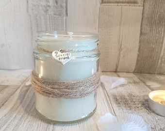Rustic Special Friend Scented Candle
