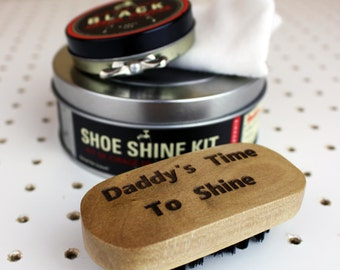 Personalized Shoe Shine Set