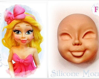 FACE OF WOMAN / F1... Silicone moulds