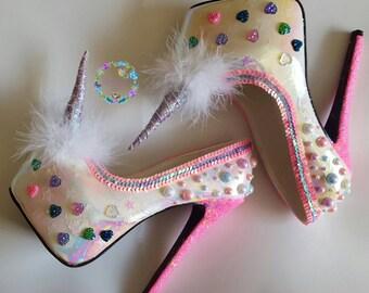 Magical unicorn love shoes