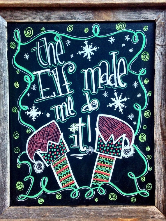 Christmas Chalkboard Home Decor From Tschalkart On Etsy Studio