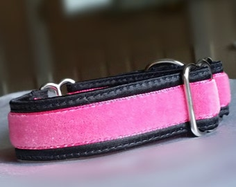 "Martingale Dog Collar,  3/4"" or 1"" - ""Pink Lady"" -Benefits IG Rescues - Style Options Available"