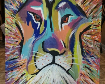 Custom lion painting