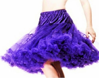 Elizabeth Stone Purple 50's Rockabilly Crinoline Underskirt Petticoat 26 Inch 2 Layers