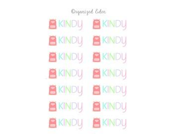 Kindy Pastel Stickers   Erin Condren Plum Kikki K Filofax Stickers Planner Blue Kindergarten mint coral