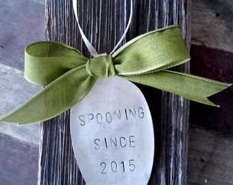 Spooning Since... Couple's Christmas Ornament