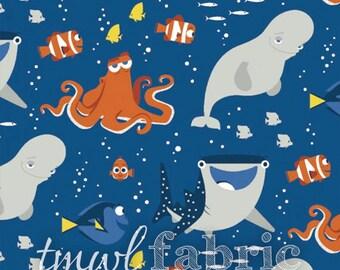 Woven Fabric - Disney Finding Dory & Friends - Half Yard +