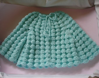 Baby Jacket - Deep Aqua - suit 4 to 10 months - suit girl or boy