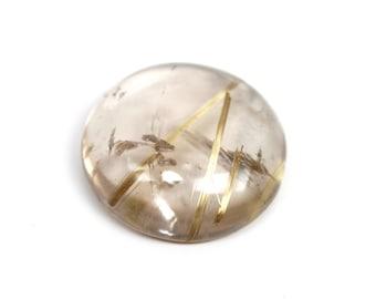 rutile quartz rutilated quartz golden gemstones cabochon