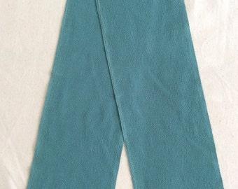 Vintage Kimono Han-Eri Collar, Chirimen Fabric, Greenish Blue