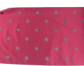 Vintage Japanese Kimono Silk Fabric Polka Dot