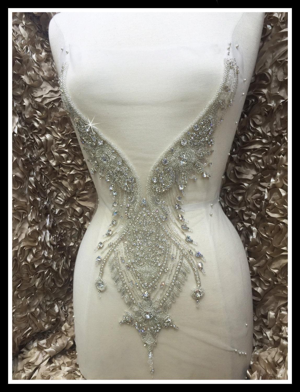 Rhinestone Beading Wedding Dress