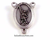 Saint Michael The Archangel Rosary Center Medal | Italian Rosary Parts