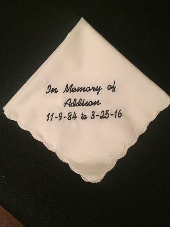 in memory of handkerchief funeral keepsake gifts for the