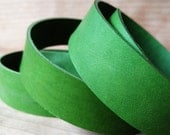 "42"" Green Veg Tanned Leather Strap 2mm / 5oz, Italian Vegetable Tanned Leather Straps, Leather Strips, Flat Leather Cord, Leather Lace"