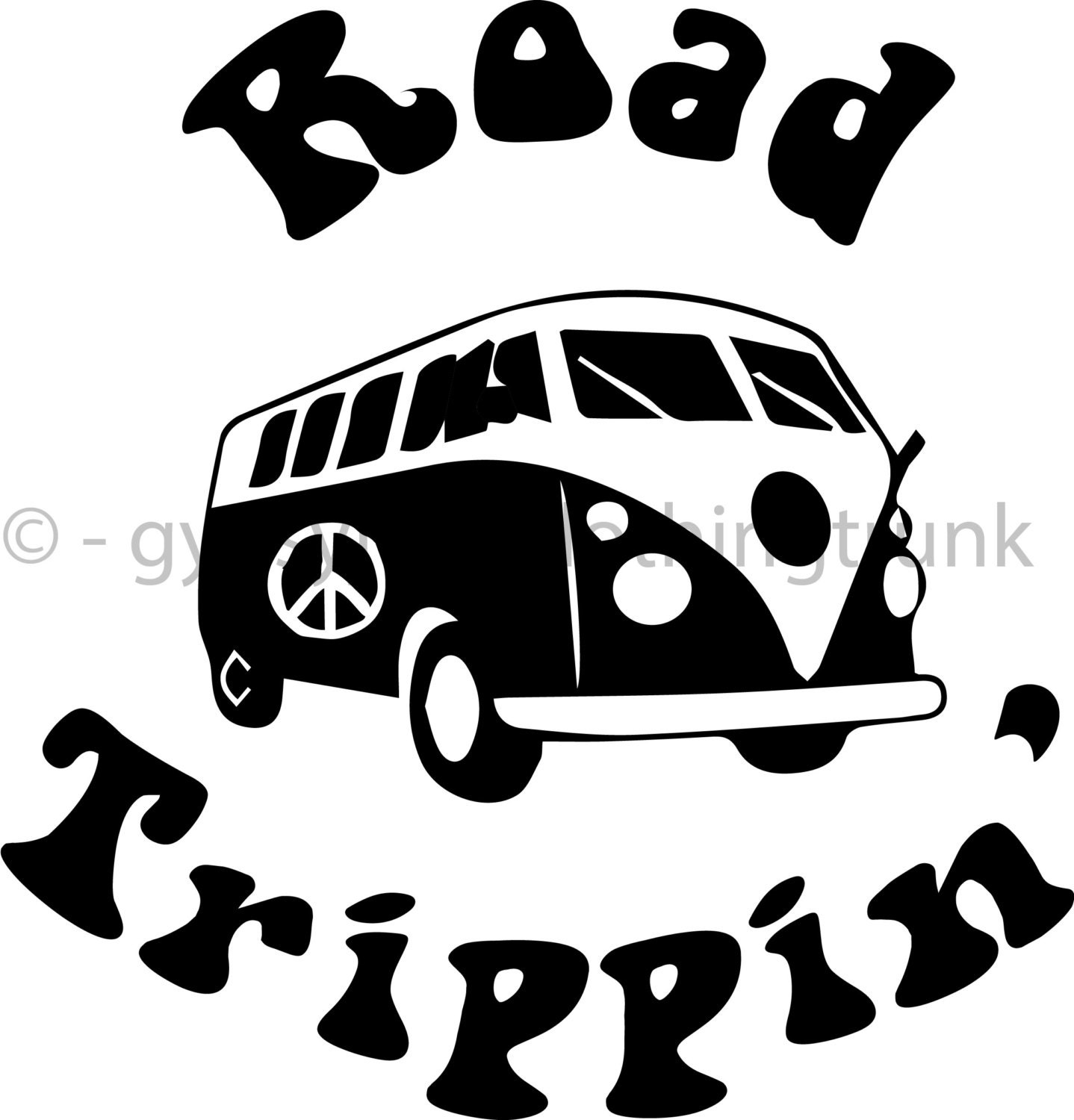 Road Tripping Car Decal Road Trip Decal Hippie Decal