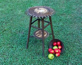 Vintage Plant Stand / Vintage Wood Stool Stand / Indoor Plant Stand / Outdoor Plant Stand / Vintage Stool / Decorative Stool