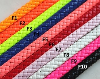 1 Meter Faux Braided Leather Flat Cord, Jewelry Findings, Beading Supplies, Jewelry Supplies
