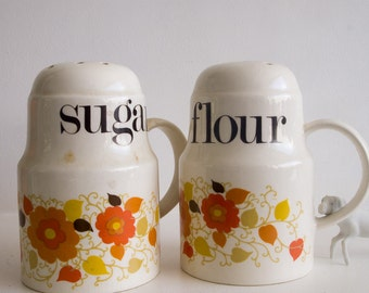 Vintage flour and sugar sifters