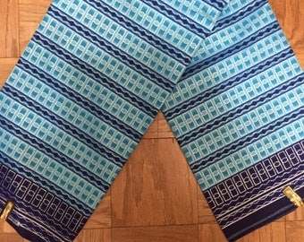 Blue Shimmer Fabric