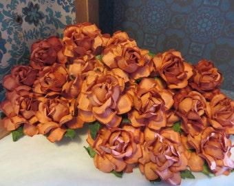 Orange Red Paper Flowers