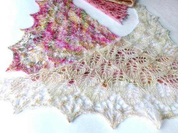 Mini Lace Doll knit shawl Miniature shawl Dollhouse miniature shawl Knitted shawl for doll Waldorf doll Mini lace knit scarf