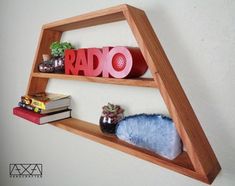 SINGLE Large Wooden Geometric Display Shelf