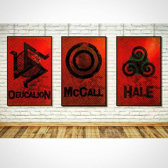 Wolf Wall Art teen wolf wall art home decor art print poster set