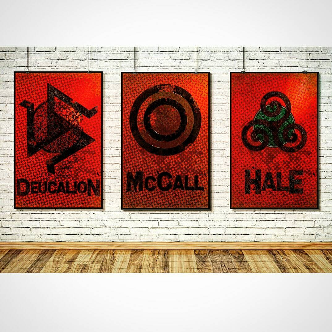 teen wolf wall art home decor art print poster set. Black Bedroom Furniture Sets. Home Design Ideas