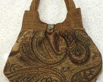 Paisley tan purse